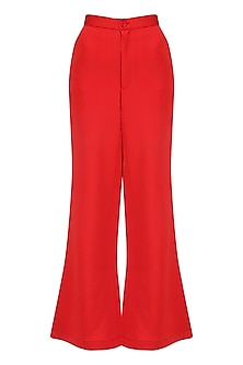 Red Bootcut Pants