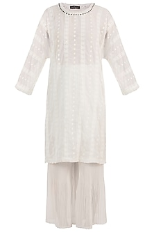 White Anglaise Tunic With Pants
