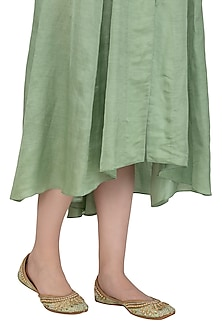 Spearmint Green Sequins Embellished Juttis by RISA