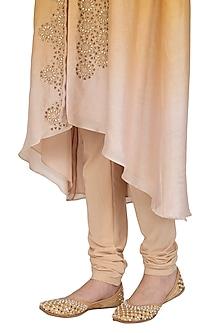 Golden Sequins & Pearl Embellished Juttis by RISA