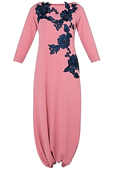 Pink Embroidered Freestyle Jumpsuit by Rishi & Vibhuti