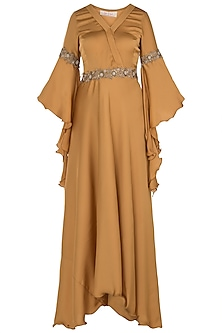 Mustard High Low Maxi Dress