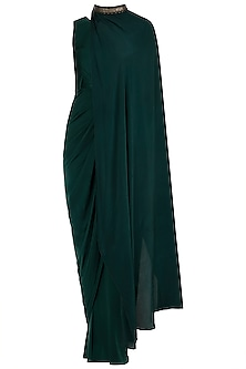 Bottle Green Drape Body Suit