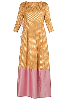 Yellow and Pink Anarkali