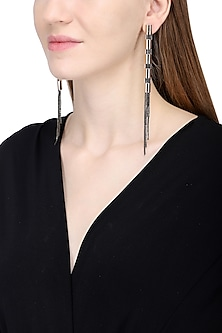 Rose Gold And Black Flute Flex Earrings by Rejuvenate Jewels