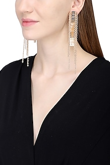 Rose Gold Chord Earrings by Rejuvenate Jewels