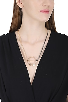 Rose Gold Circular Flex Necklace