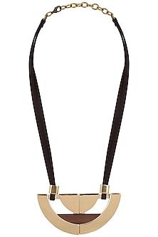 Rose Gold Half Circled Necklace by Rejuvenate Jewels