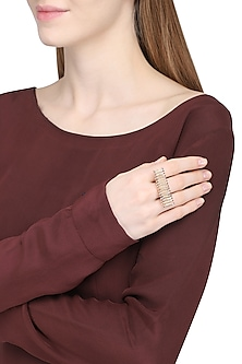 Gold Square Ring by Rejuvenate Jewels
