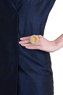 Gold plated south style ring