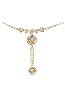Gold plated 5 flower hathphool by RIANA JEWELLERY