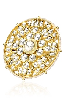 Gold Plated Bridal Round Ring by Riana Jewellery
