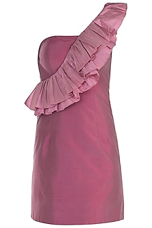 Onion Pink Ruffle Dress