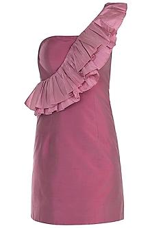 Onion Pink Ruffle Dress by Rocky Star