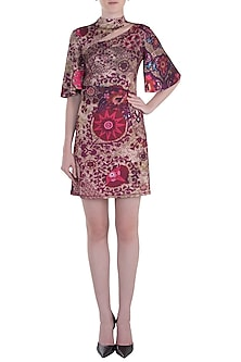 Red Printed Dress by Rocky Star
