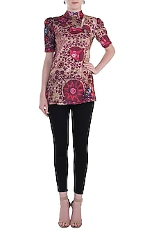 Red Printed Top by Rocky Star