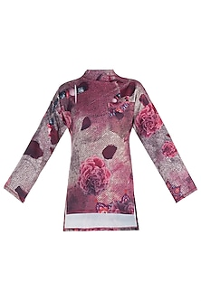Pink Printed Full Sleeves Top