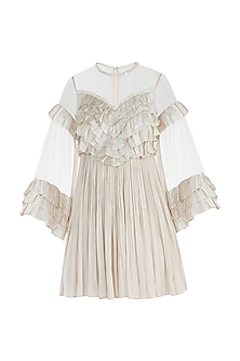 Ivory Shell Button Frill Tunic by Rocky Star