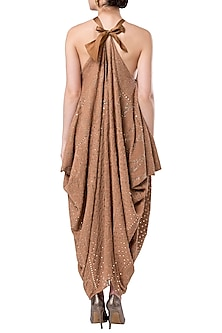 Dusk draped halter dress