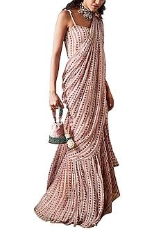 Multi Colored Printed & Corset Saree Set by Ridhi Mehra