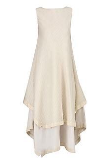 Off White Wheat Dress by Raiman