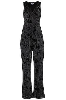 Black Metallised Jumpsuit by Renge