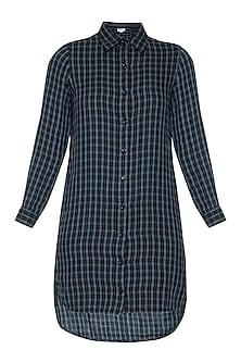 Blue mini shirt dress by RENGE