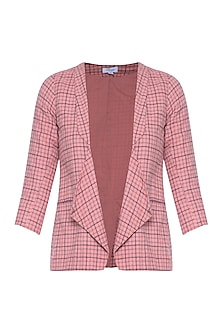 Peach fully lined blazer