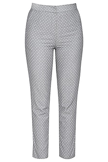 Grey cotton trouser pants
