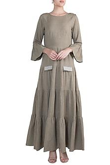 Grey Tiered Dress by Ruchira Nangalia