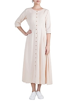 Cream Button Down Tunic by Ruchira Nangalia