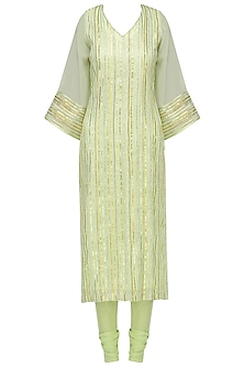 Pale Green Gota Work Kurta Set