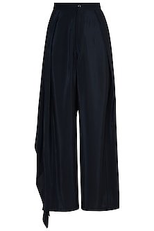 Black Side Layer Trousers by Rimi Nayak