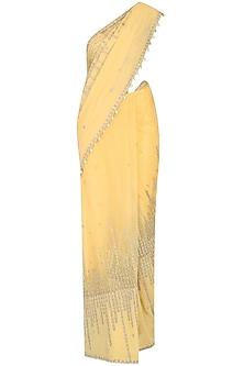 Honey Beads Embroidered Saree Set
