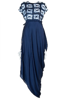 Dark blue embroidered kaftan dress
