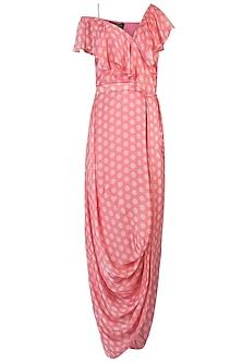 Pink Polka Wrap Dress