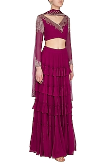 Orchid Embellished Lehenga Set by Roora by Ritam