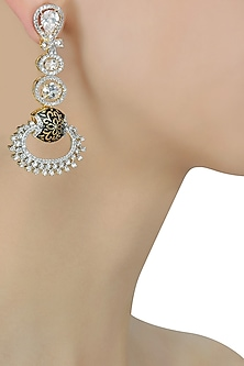 Micro Gold Plated Zircons Long Earrings by Rose Jewellery Collection