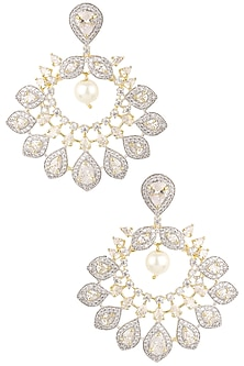 Micro Gold Plated Crescent Earrings by Rose Jewellery Collection