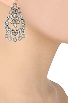 Micro Antique Silver Finish Earrings by Rose Jewellery Collection