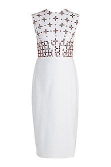 White Embellished Shift Dress by RS by Rippii Sethi