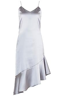 Grey Frill Dress by RS by Rippii Sethi