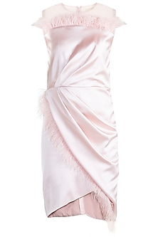 Peach Classic Feather Dress