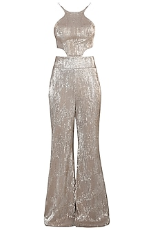 Nude Metallic Jumpsuit