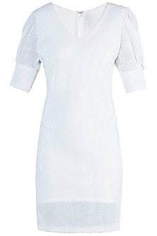 White Sequins Dress