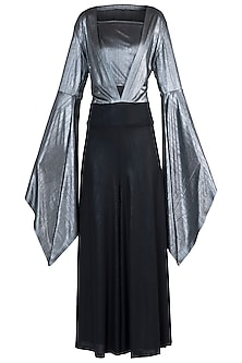 Black and Silver Metallic Jumpsuit