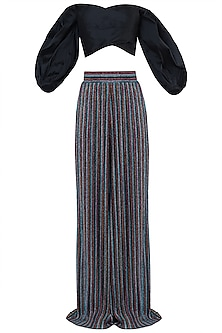 MULTI COLORED PALAZZO PANTS WITH CROP TOP