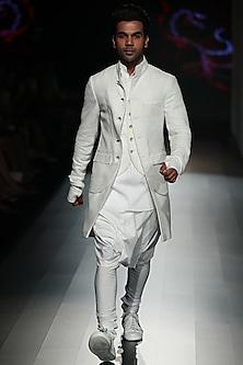 White Churidaar Pants by Rajesh Pratap Singh Men