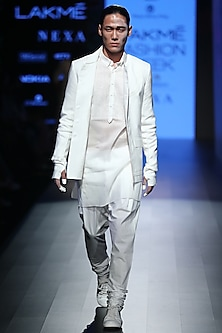 White Pintuck Kurta
