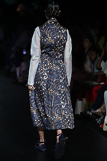 Light Blue Embroidered Tunic by Rajesh Pratap Singh